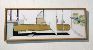 作品:部屋を横切る丸太