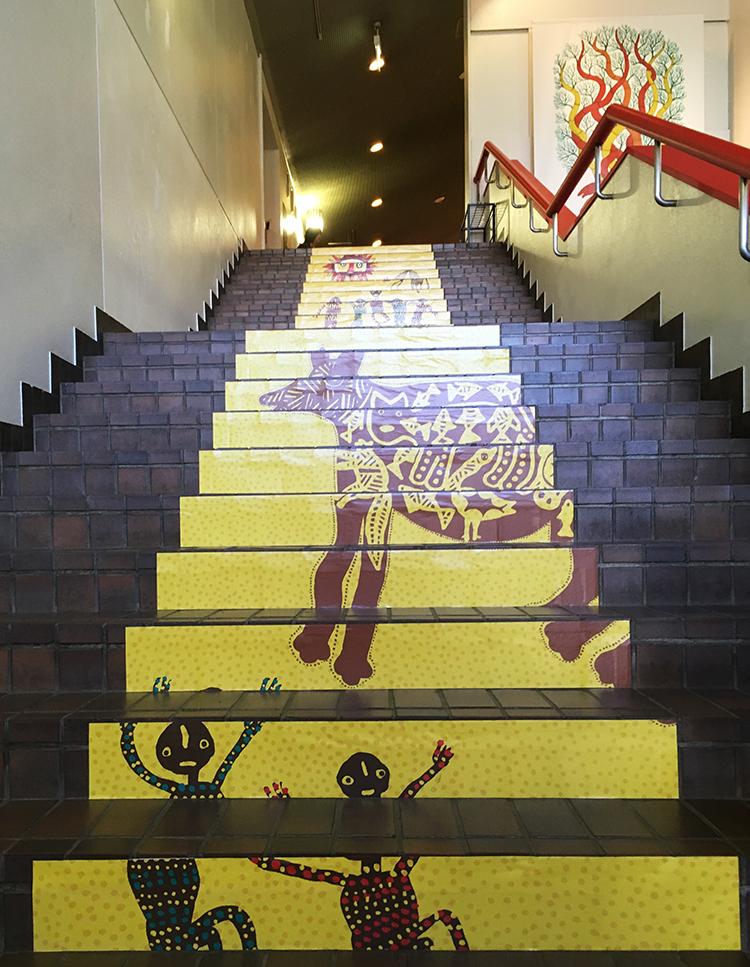 板橋区立美術館の階段