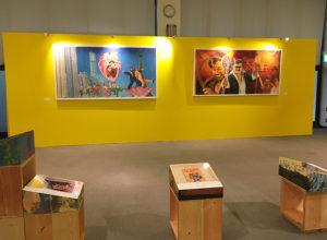 板橋宿区立美術館の館内